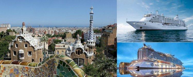 MSC Cruise Gemisi İspanya Sınırlarında Seyahatte